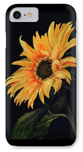 IPhone Case featuring the painting Sunflower Vii by Sandra Nardone