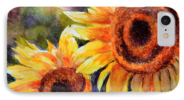 Sunflowers 2 Phone Case by Susan Jenkins