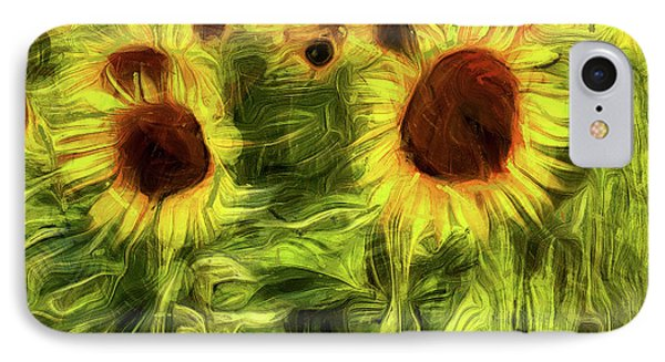 Sunflowers Abstract Van Gogh IPhone Case