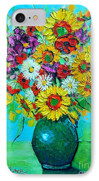 Sunflowers And Daises Phone Case by Ana Maria Edulescu