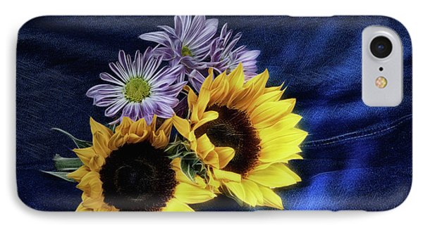 Sunflowers And Daisies IPhone Case by Tom Mc Nemar