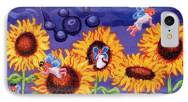 Sunflowers And Faeries Phone Case by Genevieve Esson
