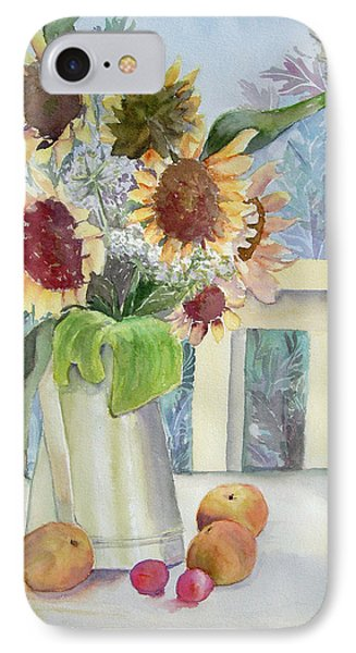 Sunflowers And Peaches Phone Case by Katherine  Berlin