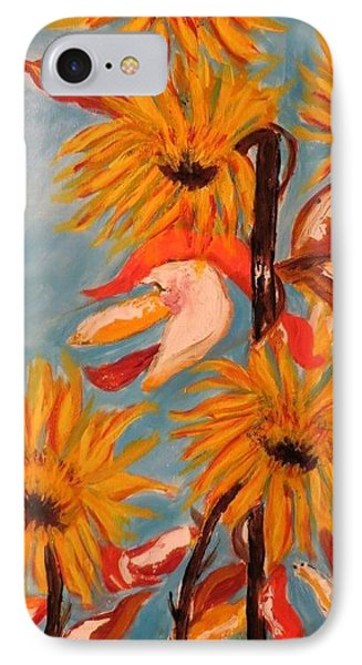 Sunflowers At Harvest IPhone Case