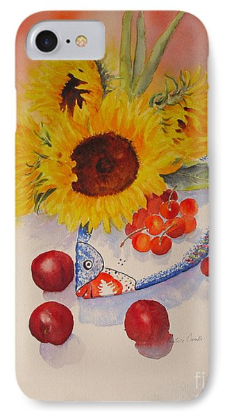 IPhone Case featuring the painting Sunflowers by Beatrice Cloake