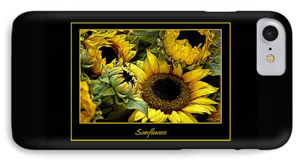 Sunflowers IPhone Case by Carolyn Marshall