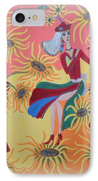 Sunflower's Contessa  IPhone Case by Marie Schwarzer