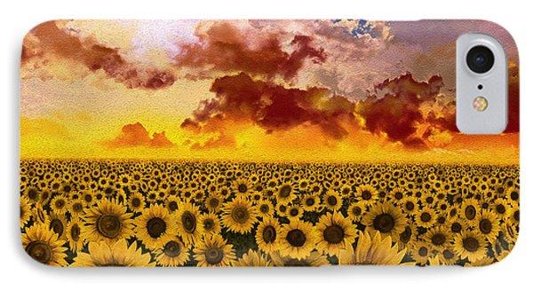 Sunflowers Field 1 IPhone Case