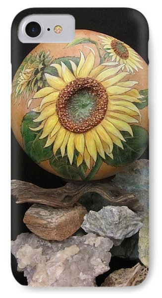 Sunflowers Gn41 IPhone Case by Barbara Prestridge