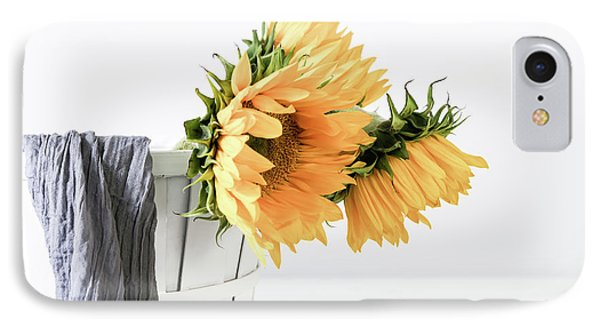 IPhone Case featuring the photograph Sunflowers In A Basket by Kim Hojnacki