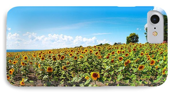 IPhone Case featuring the photograph Sunflowers In Ithaca New York by Paul Ge