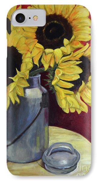 Sunflowers In Tin Milkcan IPhone Case