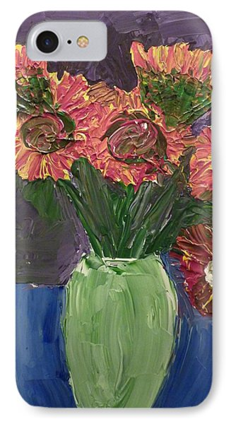 Sunflowers In Vase IPhone Case by Joshua Redman