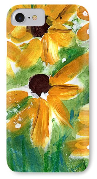Sunflower iPhone 7 Case - Sunflowers by Linda Woods