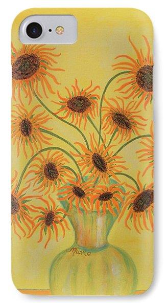 Sunflowers IPhone Case by Marie Schwarzer