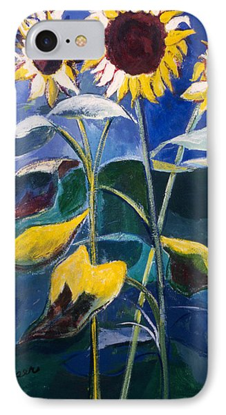 Sunflowers Standing Tall IPhone Case by Betty Pieper