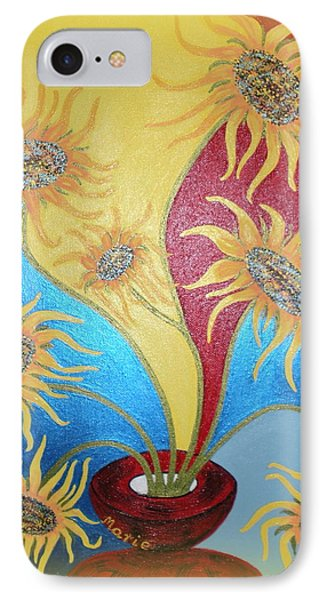 Sunflowers Symphony IPhone Case by Marie Schwarzer