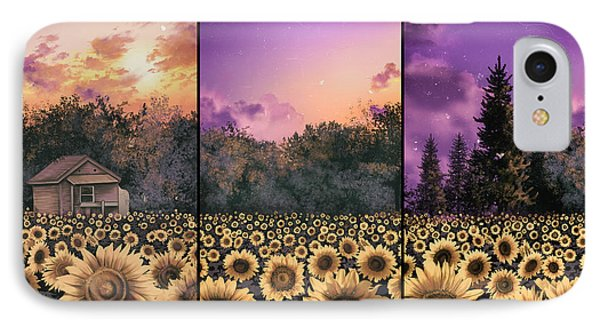 Sunflowers Triptych 2 IPhone Case