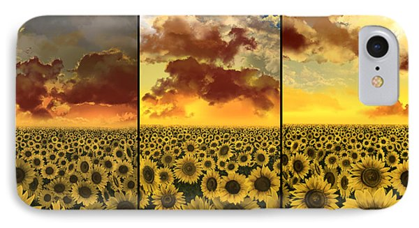 Sunflowers Triptych IPhone Case