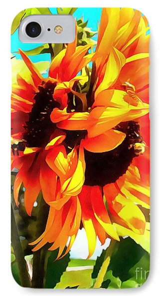 IPhone Case featuring the photograph Sunflowers - Twice As Nice by Janine Riley