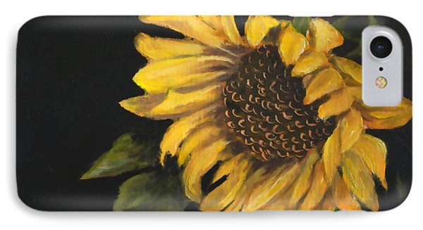 IPhone Case featuring the painting Sunflowervi by Sandra Nardone
