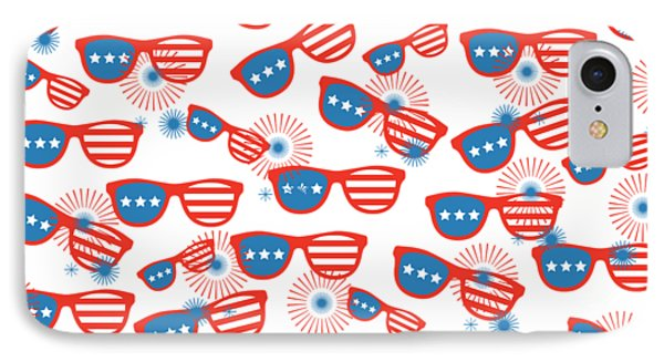 Sunglass Sparklers Celebration  IPhone Case by Chastity Hoff