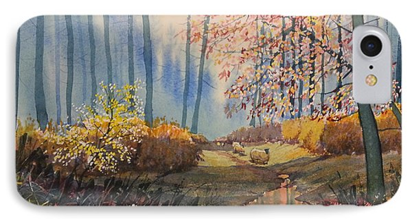 Sunlight And Sheep In Sledmere Woods IPhone Case