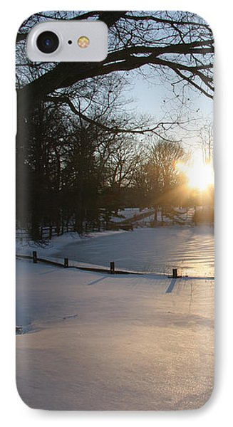 Sunlight On A Frozen Pond  IPhone Case