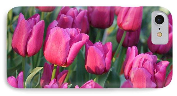 Sunlight On Pink Tulips Phone Case by Carol Groenen