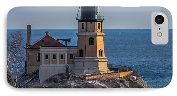 Sunlight On Split Rock Lighthouse IPhone Case by Paul Freidlund