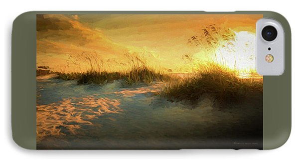 Sunlight On The Dunes IPhone Case by Marvin Spates