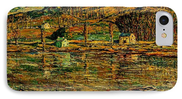 Apollo Theater iPhone 7 Case - Sunlight On The Harlem River 1919 by Peter Ogden