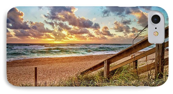 IPhone Case featuring the photograph Sunlight On The Sand by Debra and Dave Vanderlaan
