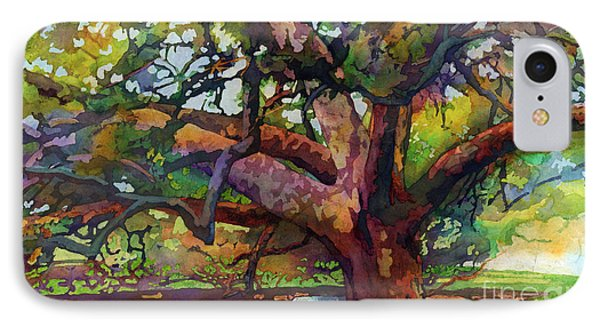 Sunlit Century Tree IPhone Case by Hailey E Herrera