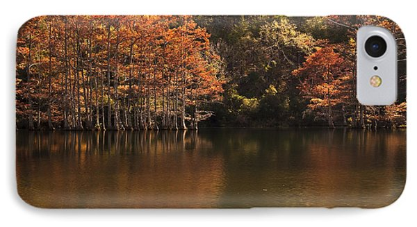IPhone Case featuring the photograph Sunlit Cypress Trees On Beaver's Bend by Tamyra Ayles