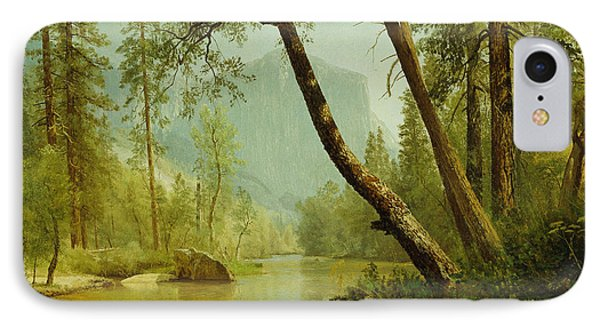 Sunlit Forest IPhone Case by Albert Bierstadt
