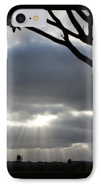 Sunlit Gray Clouds At Otay Ranch IPhone Case by Karen J Shine
