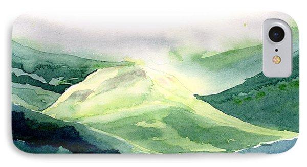 Sunlit Mountain Phone Case by Anil Nene