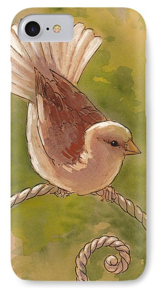 Sunlit Sparrow IPhone Case