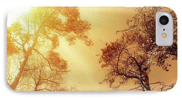 Sunlit Tree Tops Phone Case by Wim Lanclus