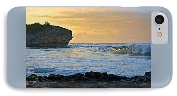 Sunlit Waves - Kauai Dawn IPhone Case by Marie Hicks