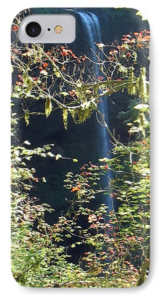 IPhone Case featuring the photograph Sunlite Silver Falls by Thomas J Herring