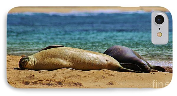 Sunning On The Beach In Hawaii IPhone Case by Craig Wood