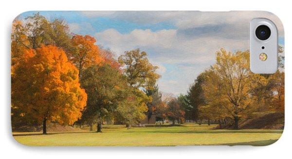 Sunny Day In Autumn IPhone Case by Tom Mc Nemar