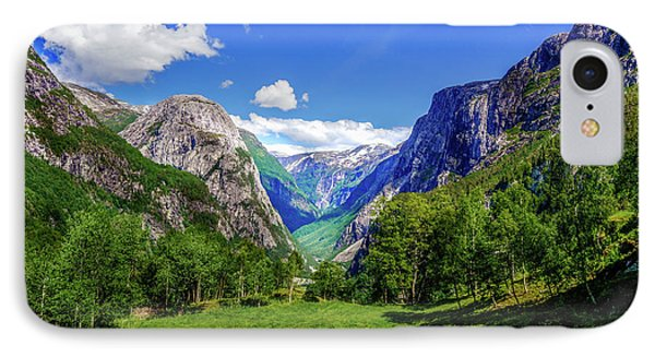 IPhone Case featuring the photograph Sunny Day In Naroydalen Valley by Dmytro Korol