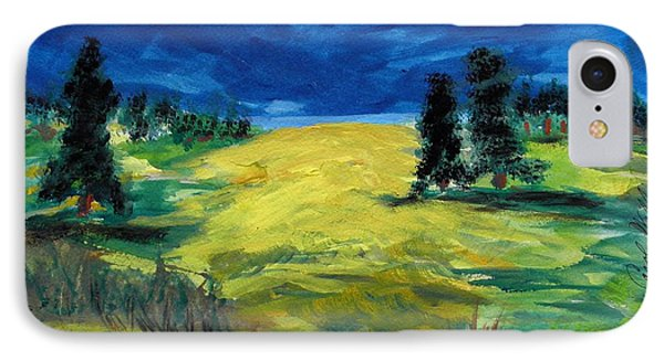 IPhone Case featuring the painting Sunny Field by Mary Carol Williams