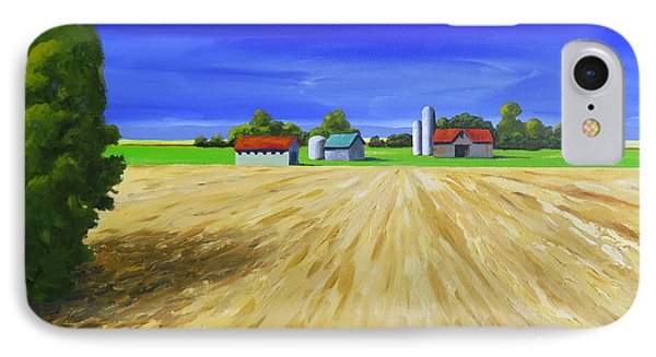 IPhone Case featuring the painting Sunny Fields by Jo Appleby