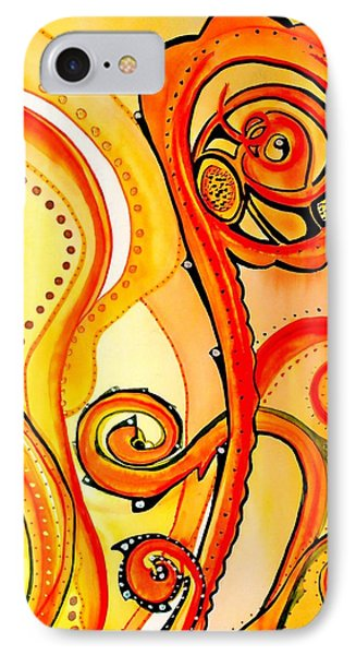 IPhone Case featuring the painting Sunny Flower - Art By Dora Hathazi Mendes by Dora Hathazi Mendes
