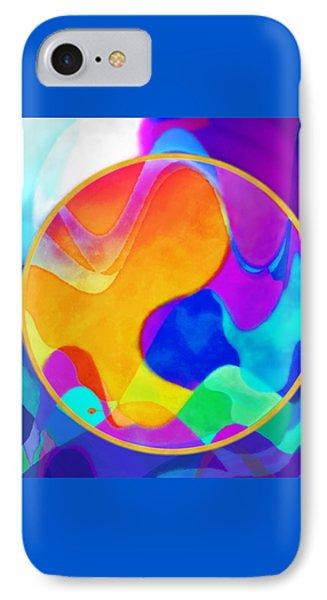 Sunny Sea Unbordered Phone Case by Mathilde Vhargon