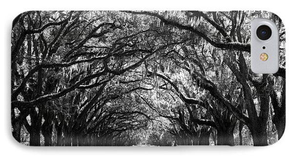 Sunny Southern Day - Black And White With Black Border IPhone Case by Carol Groenen